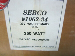 Sebco Low Voltage Lighting Transformer Model 1062 24 Nos 220v 250 Watt