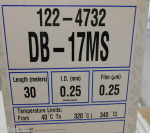 J W Scientific Gas Chromatography Db 17ms Gc Column 122 4732