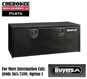 Buyers Products 1702510 Black Steel Underbody Toolbox 18 H X 18 D X 48 W