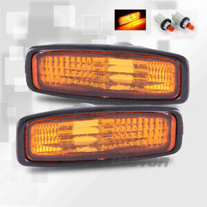 For 1996 1997 Honda Accord Lx Dx Ex Amber Side Marker Signal Lights Light Bulbs