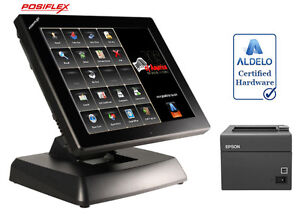 Posiflex Xt3915 Restaurant Bakery Bar Pos System With Aldelo pro Software New