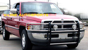 1994 2001 Dodge Ram 1500 2500 Stainless Steel Grill Guard Brush Guard Hpt