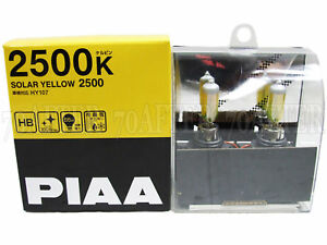 Piaa 2500k Solar Yellow 9006 hb4 Halogen Fog Light Bulbs made In Japan