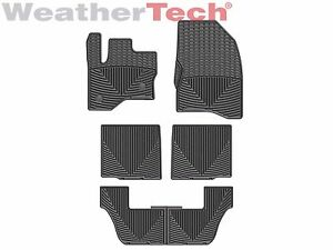 Weathertech All weather Floor Mats For Ford Flex 2009 2019 1st 2nd 3rd Row Black