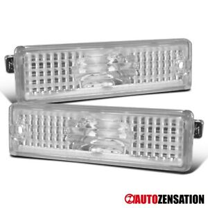 For 1993 2002 Chevy Camaro Clear Bumper Lights Rear Signal Parking Side Markers