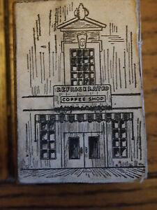 Vintage Printers Block Refrigerated Coffee Shop 1 3 8 X 2 Marked Sj Co