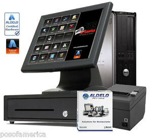 Aldelo pro Restaurant Bar Bakery Pizza Pos I3 Complete Station Windows 7 New