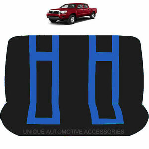 Blue Black Double Stitched Polyester Bench Seat Cover 2pcs Et For Trucks 9029