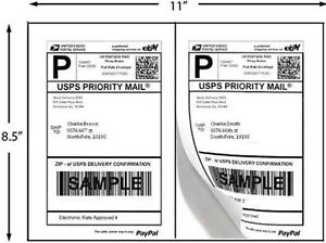Economy Shipping Labels 1 2 Sheet White 4 800 Pk 2 Up 24 Packs Of 200