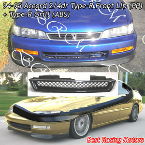 Tr Style Front Bumper Lip Pp Tr Style Grill Abs Fit 94 95 Honda Accord