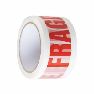 6 Rolls Of Strong Fragile Parcel Tape Packing Packaging 60m 50mm Cheap Print