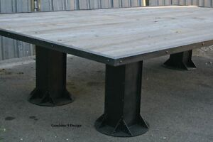 Industrial Conference Table Reclaimed Wood Urban Decor Board Room Dining
