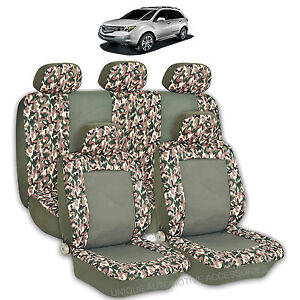 2 Tone Green Camo High Quality Front Rear Seat Covers 9pc Set For Suvs 2766