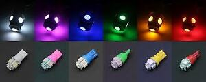 50x 6 Color Led T10 5050 5smd Map Dome License Plate Light Bulb Side Marker Lamp
