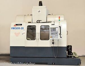 You Ji Vmc 850 2s Twin Spindle Cnc Machining Center Cat40 24 tool 20hp Fanuc