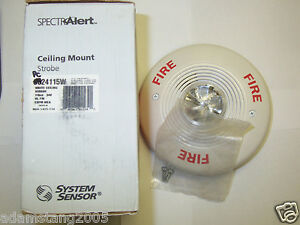 New System Sensor Spectralert Pc24115w White Ceiling Mount Strobe Fire Alarm 115