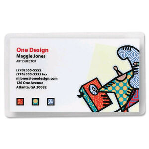 Business Card 2 25 X 3 75 5 Mil Laminating Heat Sealing Pouches Box Of 2000