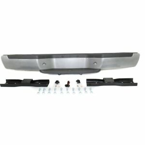 Step Bumper Assembly For 2001 2004 Nissan Frontier Fleetside Powdercoated Silver