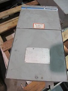 Westinghouse 5 Kva 1 Unit Substation 480x120 240 W panel T178 Painted Blue