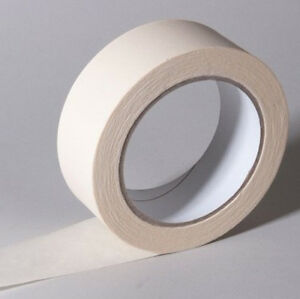 Masking Tape 3 4 Inch 60 Yards White Paper Nature Rubber Adhesive 12 Rolls