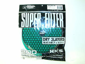 Hks Smf Air Intake Replacement Filter 200mm green dry Element