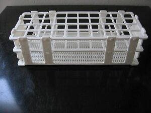 A Set Of 5 plastic Test Tube Rack Stand Lab 40 Tubes 1 New