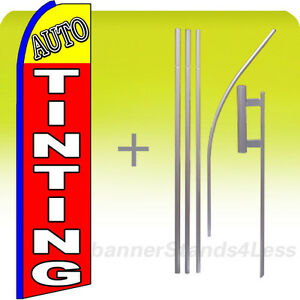 Auto Tinting Swooper Flag Kit Feather Flutter Banner Sign 15 Set Rq