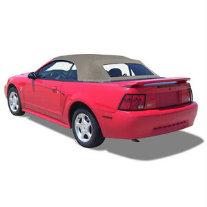 Ford Mustang Convertible Top Defroster Glass Window Parchment Sailcloth 94 04