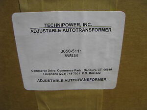 Technipower Adjustable Auto Variac Transformer W5lm Nsn 5950 00 242 4865