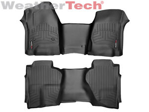Weathertech Floor Liner For Silverado Sierra Double Cab 1st 2nd Row Black