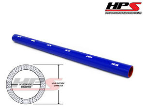 3 Ft X Long Hps 3 1 8 80mm Silicone Intercooler Turbo Straight Tube Hose Blue