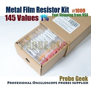 145 Values Total 1450pcs 1 1 4w Metal Film Resistor Assortment Box Kit 1009