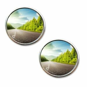 Zone Tech 2 Round Stick On Rear view Blind Spot Convex Wide Angle Mirrors Car