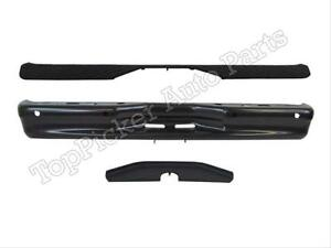 For 1992 2012 Ford Econoline Van Rear Step Bumper Bar Top Low Pad Black W Hole