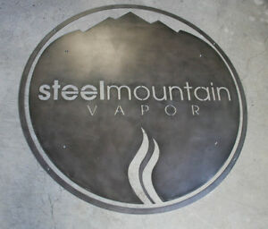 Custom Round Steel Sign For Your Business Many Options Avail Urban Modern