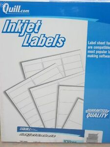 5600 Quill Inkjet Address Labels White 1 1 3 X 4 Free Shipping