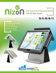 All in one Pos With 15 Touch Screen And 9 7 Customer Display