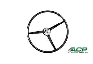 1965 1966 Ford Mustang Standard Steering Wheel Black New Reproduction