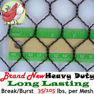 Poultry Netting 50 X 200 1 Light Knitted Aviary Anti Bird Net