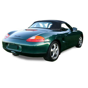 Porsche Boxster 986 Convertible Soft Top Replacement 1997 2002 Black Stayfast Pc