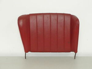Nice Used Original Genuine Porsche 356b 356c Rear Seat Back Red Leatherette