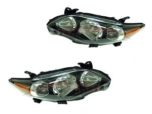For 2011 2013 Toyota Corolla S Sedan Head Lights Driver Passenger Side Lh rh