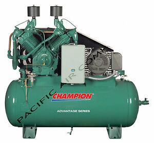 1wd40 Champion Hra25 12 25hp 3 phase 230v 120 Gal Advantage Fullly Packaged