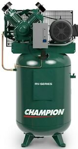 Champion Vrv7 8 230v 1ph 7 5 Hp 80 Gallon Vertical 2 Stage Air Compressor