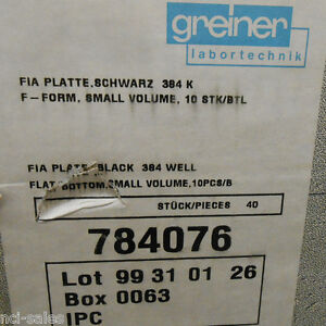 Box Of 40 Greiner 384 Well Flat Bottom Fia Microplates 784076