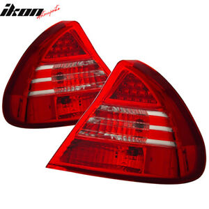 Fits 99 02 Mitsubishi Mirage Led Tail Lights Red Clear