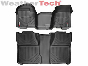 Weathertech Floor Mats Floorliner For Silverado Sierra 1st 2nd Row Oth Black