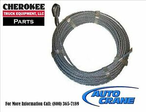 Auto Crane 360155000 Wire Rope Assembly 80 x5 16