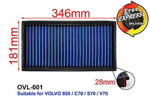 High Flow Drop In Simota Air Filter For Volvo 850 C70 S70 V70 Ovl 001