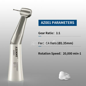 Nsk Style Dental Slow Low Speed Handpiece Contra Angle Push Button Fda ce
